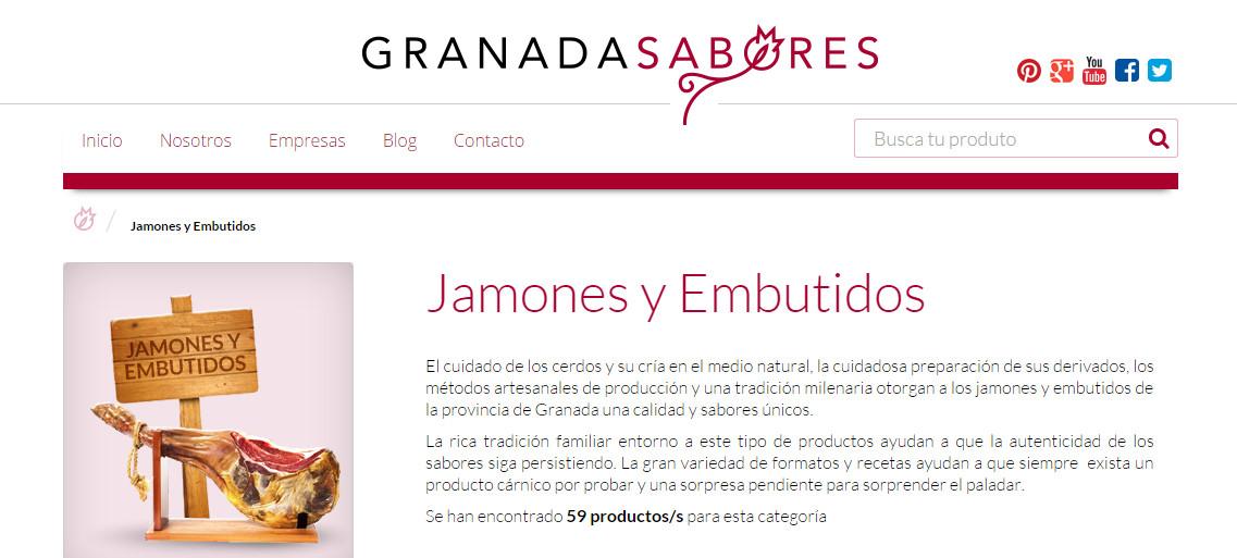 Jamones y embutidos en la tienda Granada Sabores - Sabor Granada