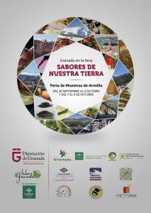 Cartel Sabores de nuestra tierra - Sabor Granada
