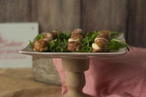 Cómo hacer Bombones de jamón rellenos de paté de queso y aceite - Sabor Granada
