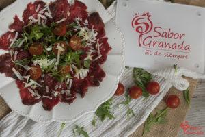 Receta para hacer carpaccio de ternera pajuna - Sabor Granada