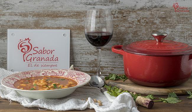 Receta para hacer garbanzos con langostinos - Sabor Granada