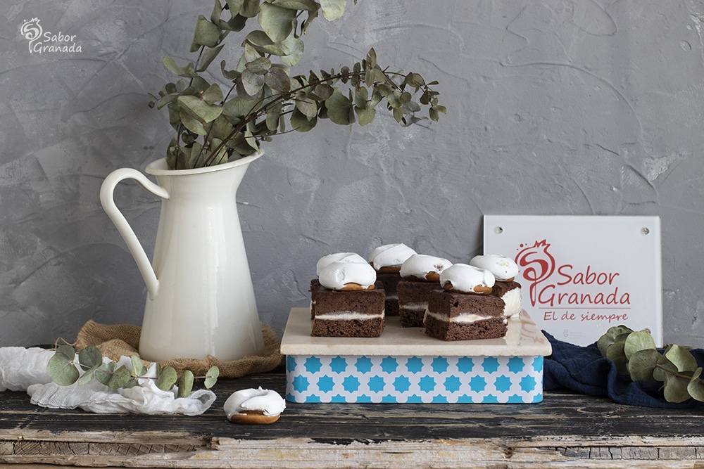 Receta de Brownie helado de rosco de Loja - Sabor Granada