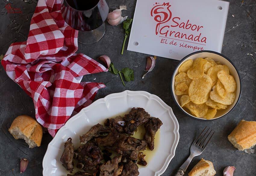 Receta de Costillas al ajillo - Sabor Granada