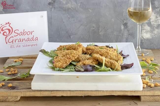 Receta para hacer Fingers de pollo con maíz tostado - Sabor Granada