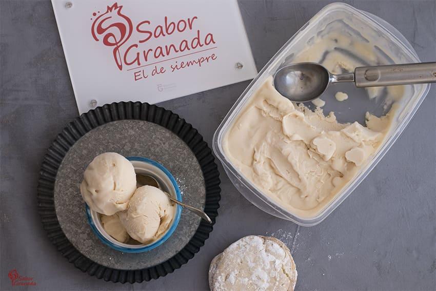 Receta para hacer Helado de Maritoñi - Sabor Granada