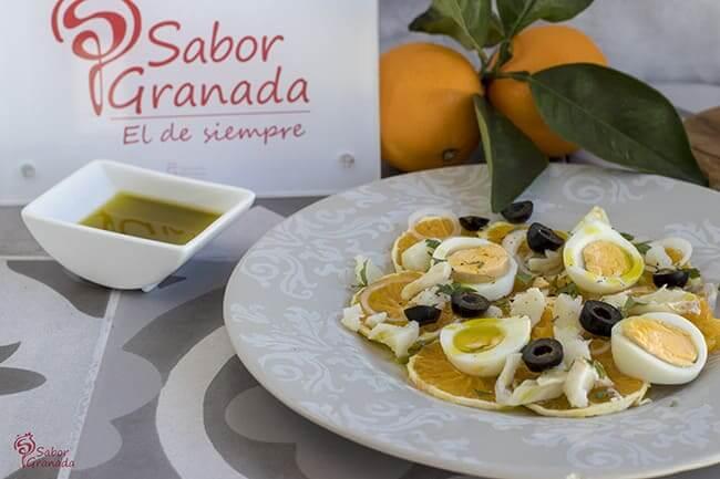 Receta para hacer remojón granadino - Sabor Granada
