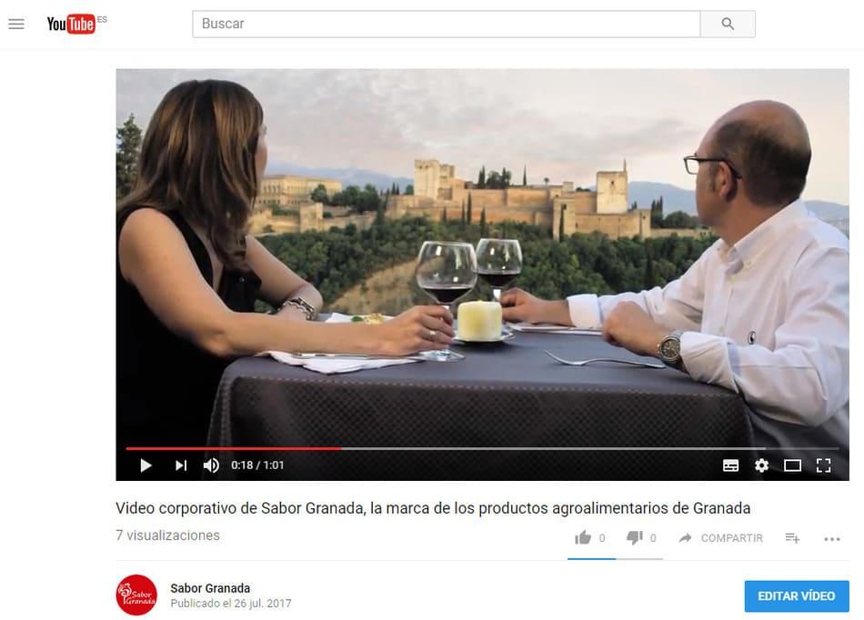 Video corporativo Sabor Granada