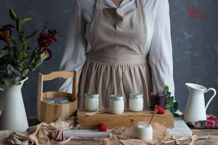 Receta de yogures caseros - Sabor Granada