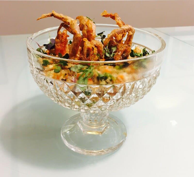 Receta de Ensalada templada de quinoa real con soft sell crab - Sabor Granada