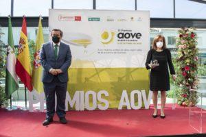 El Presidente de la Diputación de Granada, José Entrena, durante la entrega de los Premios AOVE Sabor Granada 2020
