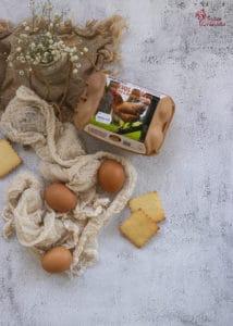 Huevos Garrido para hacer galletas de mantequilla - Sabor Granada