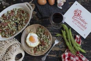 Receta para hacer habas con jamón - Sabor Granada