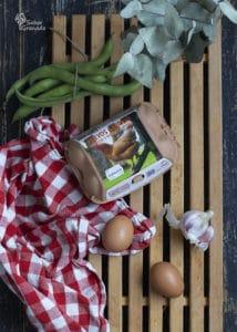 Huevos camperos Garrido para hacer las habas con jamón - Sabor Granada