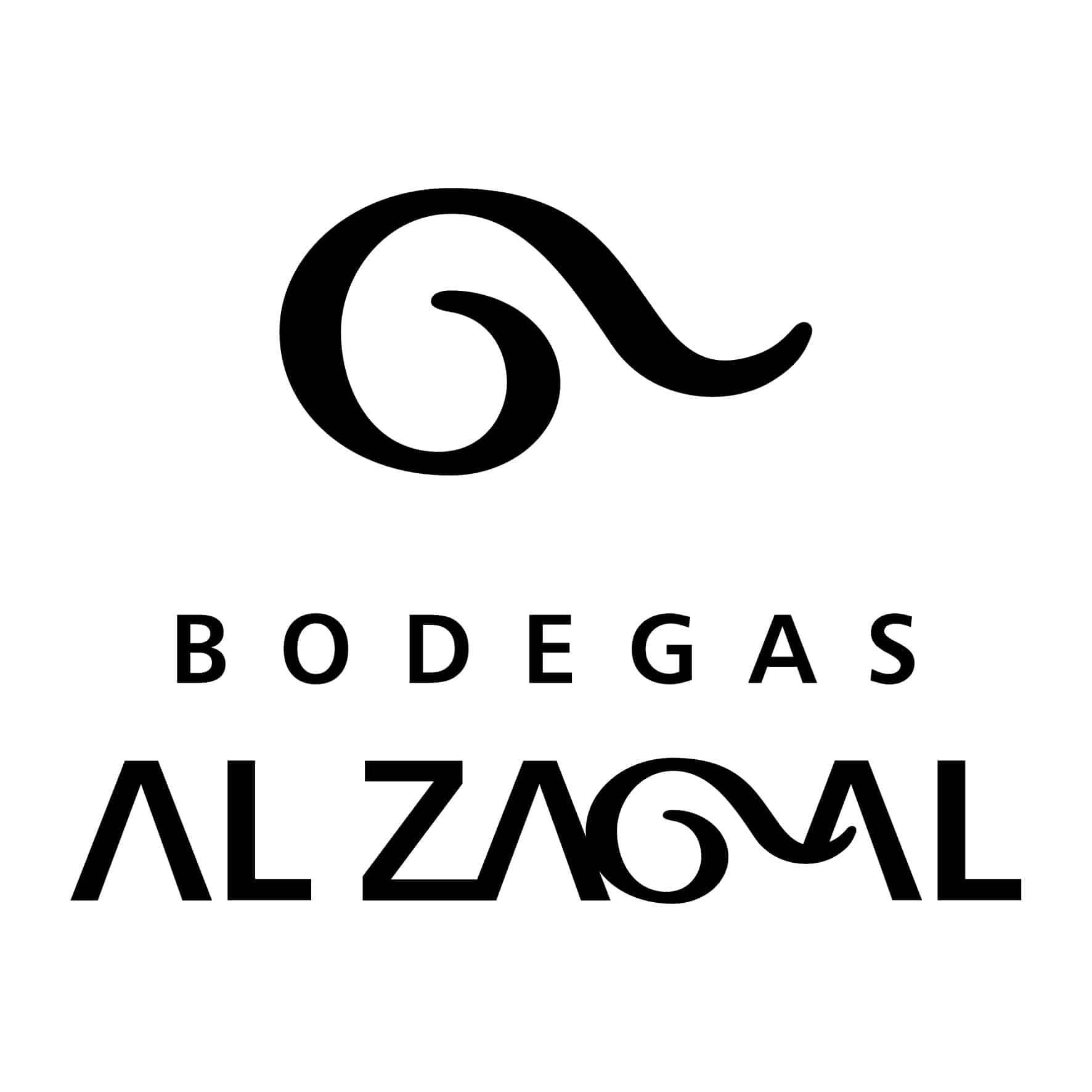 Logo Bodega Al Zagal en blanco y negro - Sabor Granada
