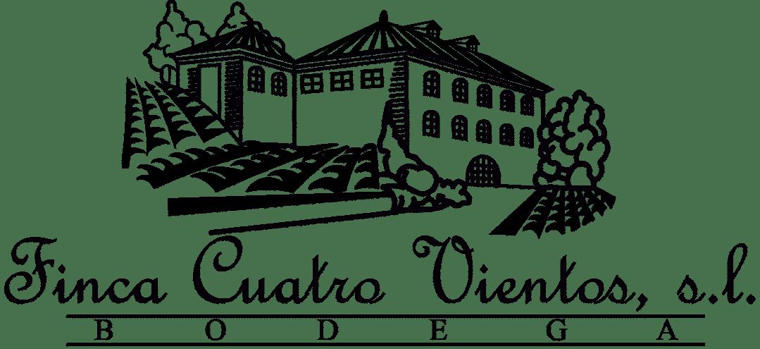 Logo Bodega Finca Cuatro Vientos en blanco y negro - Sabor Granada