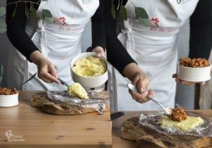 Pasos a seguir para rellenar las patatas - Sabor Granada