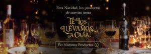 """Cartel de la promoción """"Esta Navidad, los productos de nuestra tierra te los llevamos a casa - Sabor Granada"""
