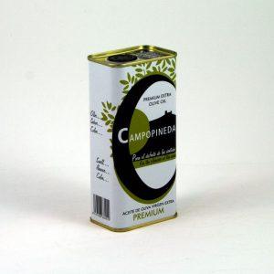 AOVE premium envasado en lata Campopineda - Sabor Granada