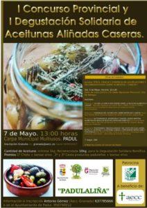Cartel aceitunas aliñadas Padul - Sabor Granada