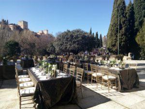 Mesas con vistas a la Alhambra en masterchef - Sabor Granada