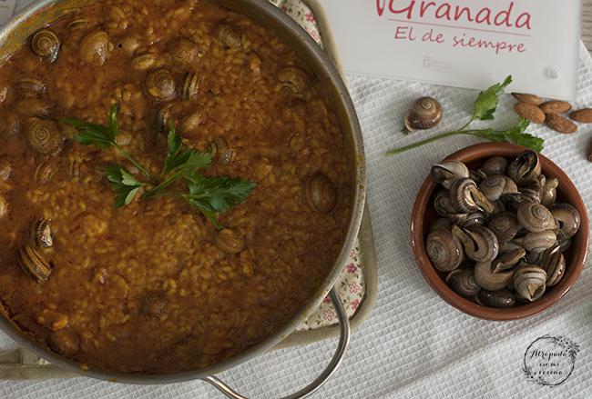 Cómo hacer arroz con caracoles - Sabor Granada