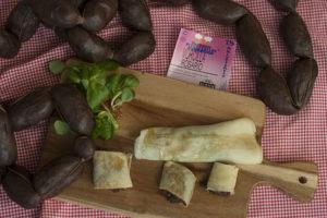 Crepes de morcilla con pera y miel - Sabor Granada