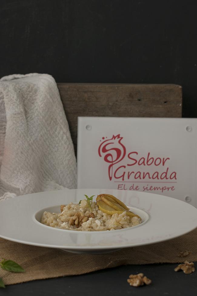 Risotto de manzana y requesón con nueces - Sabor Granada