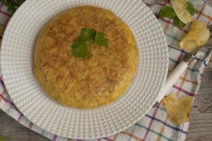 Cómo hacer tortilla de patatas chips - Sabor Granada