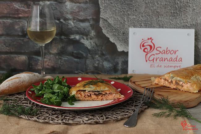 Trucha a la hidromiel con mermelada de cebolla y pasas - Sabor Granada