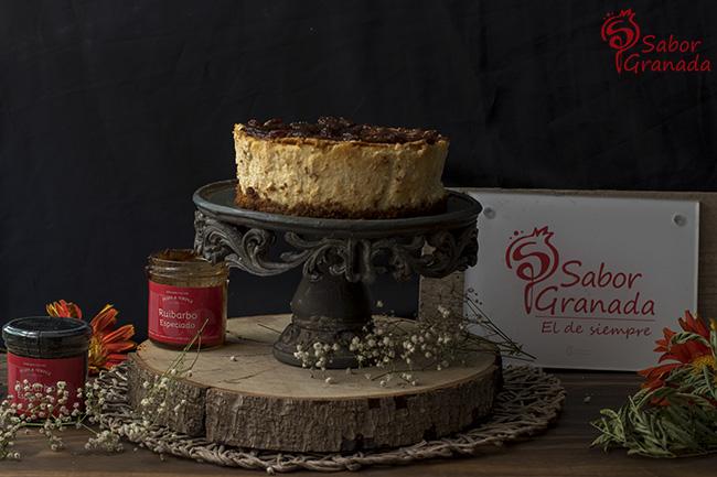Receta para hacer tarta de queso y ruibarbo - Sabor Granada