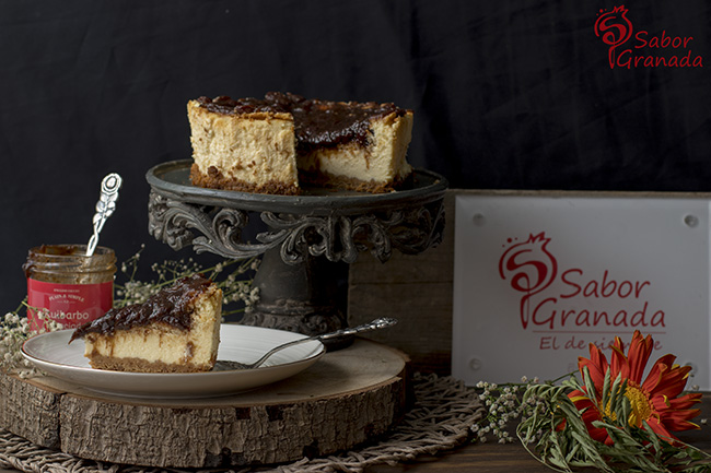 Cómo hacer tarta de queso y ruibarbo - Sabor Granada