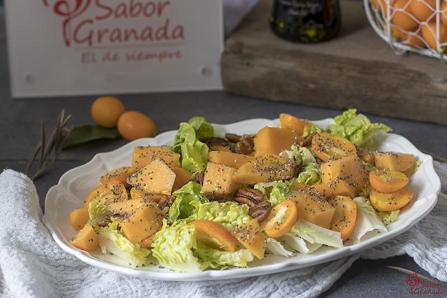 Ensalada de kumquat y papaya - Sabor Granada