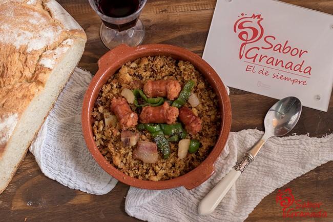 Receta para hacer migas de pan - Sabor Granada