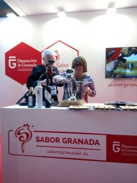 Foto en alimentaria Barcelona 2018 - Sabor Granada