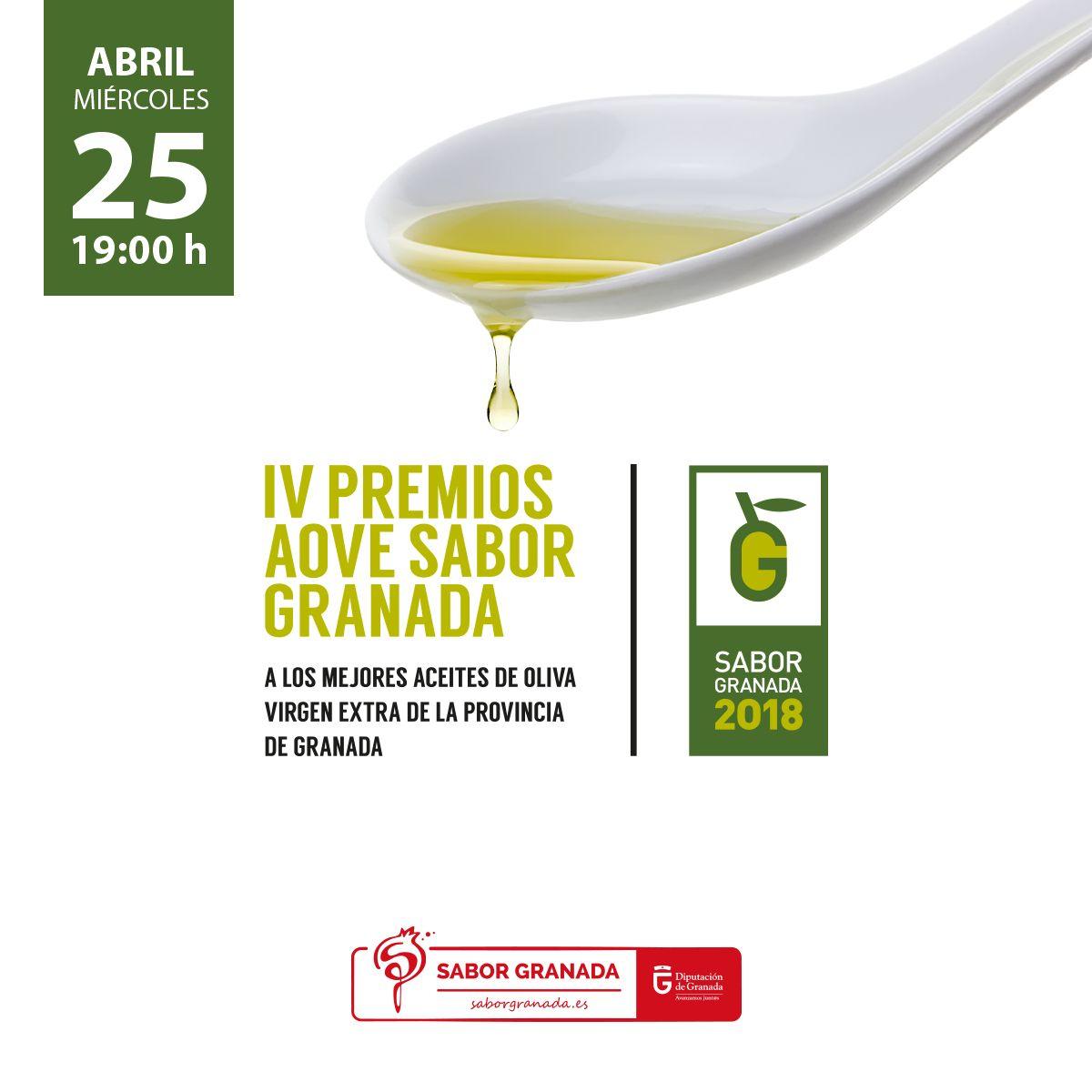 Premios Aceite invitación 2018 - Sabor Granada