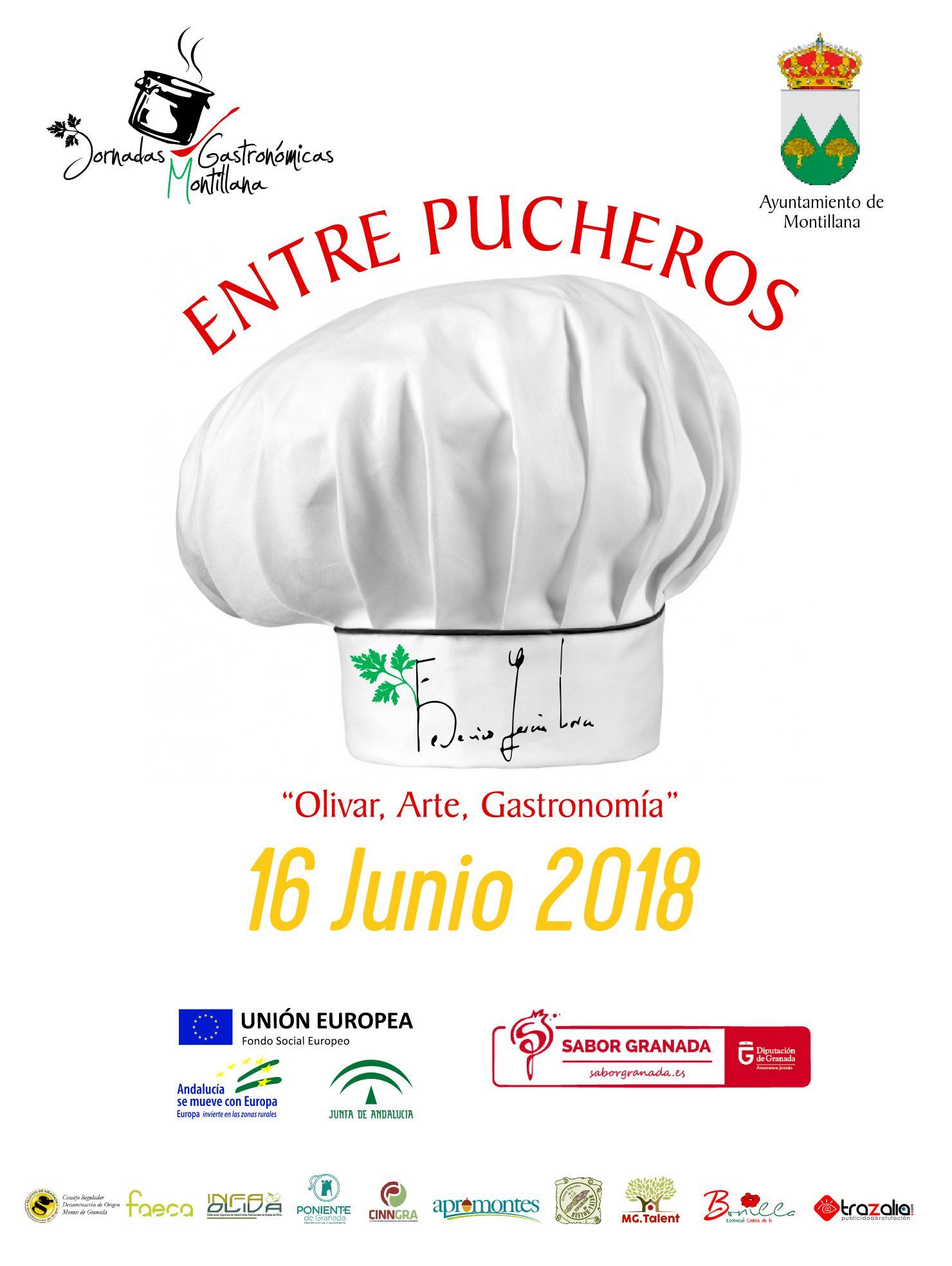 Cartel digital de las jornadas gastronómicas montillana - Sabor Granada