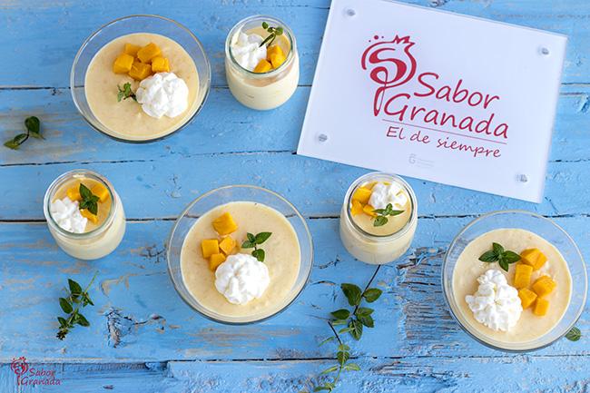 Mousse de mango - Sabor Granada