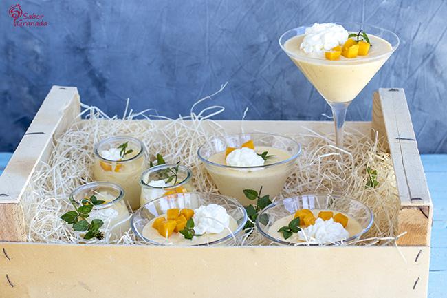 Presentación del mousse de mango - Sabor Granada