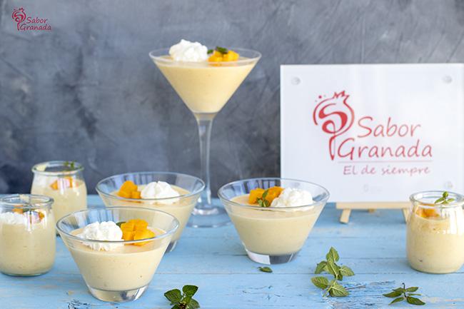 Receta para hacer mousse de mango - Sabor Granada