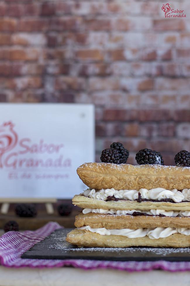 Cómo hacer tarta de milhojas de moras - Sabor Granada