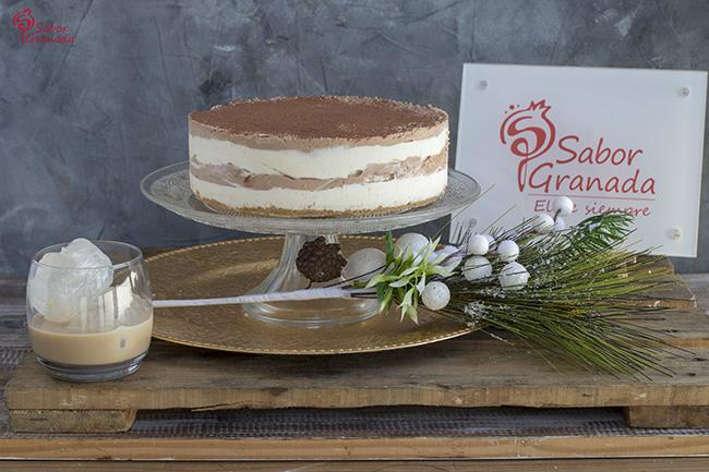Tarta de queso, chocolate y crema de whisky - Sabor Granada