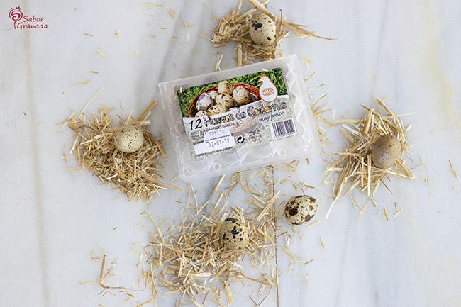 Huevos de codorniz de huevos Garrido - Sabor Granada