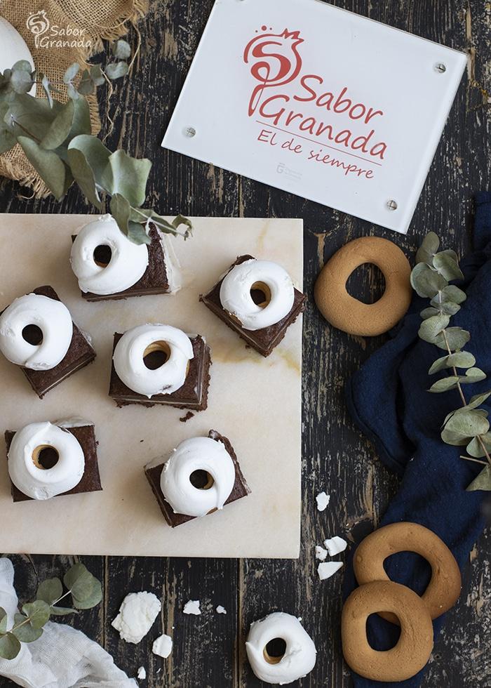 Brownie helado de rosco de Loja - Sabor Granada