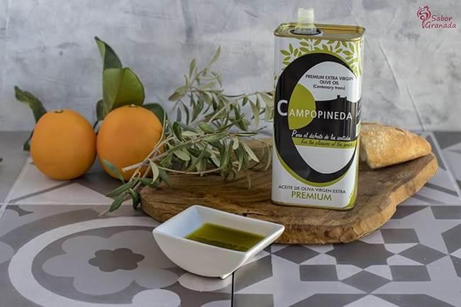 AOVE Premium Campopineda para hacer Remojón granadino - Sabor Granada