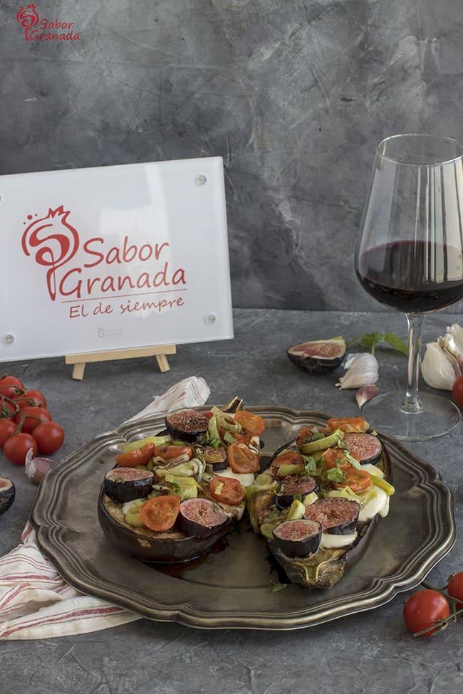 Cómo hacer Berenjenas rellenas de brevas, cherry y mozzarella - Sabor Granada
