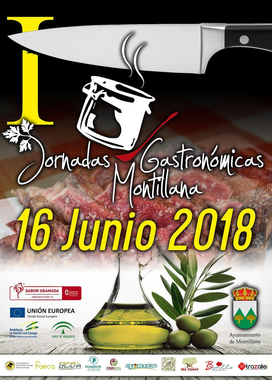 Cartel de las Jornadas gastronómicas Montillana 2018 - Sabor Granada