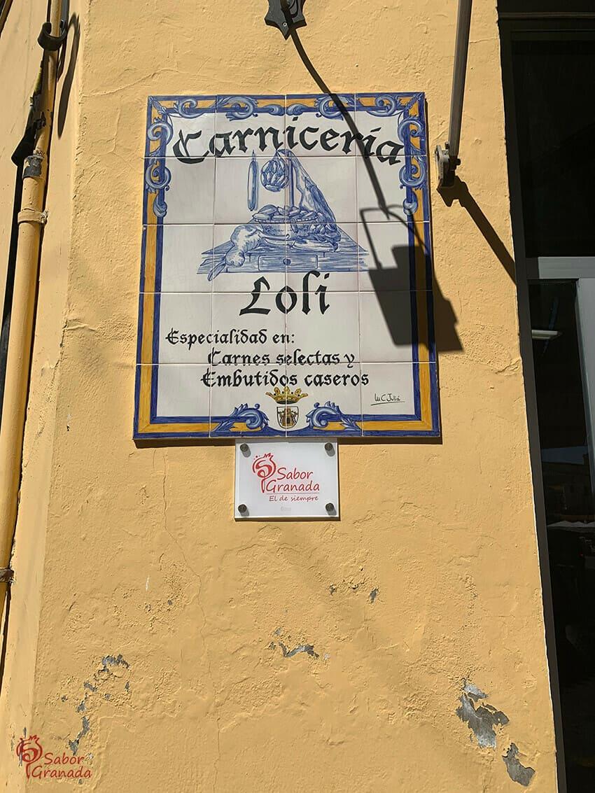 Exterior de la carnicería Loli - Sabor Granada