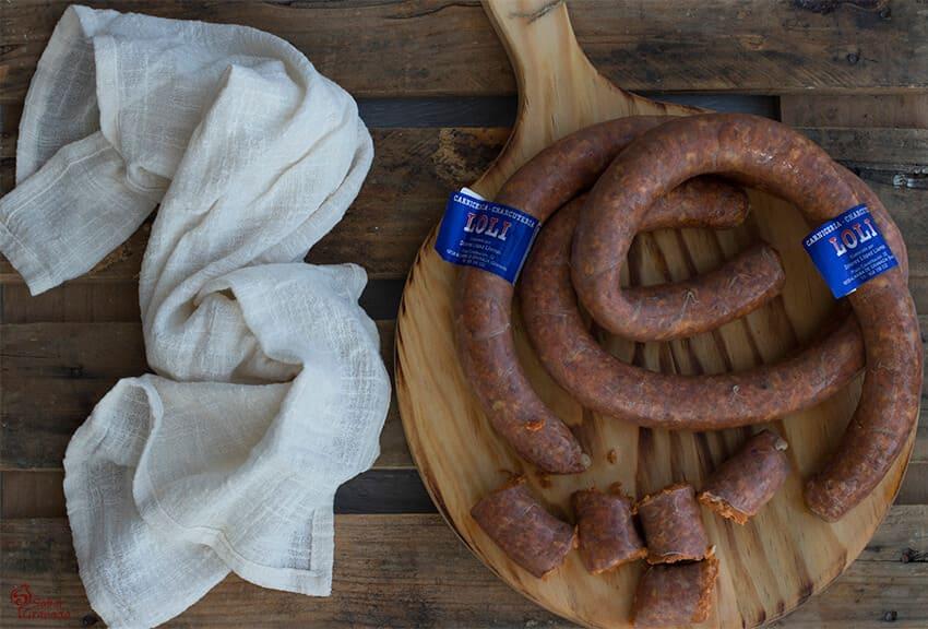 Productos de carnicería loli para hacer calabaza frita con chorizo - Sabor Granada