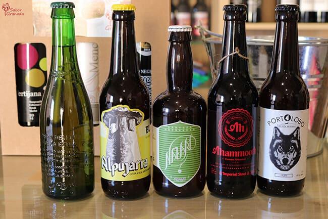 Cervezas de la tienda Sabor Granada