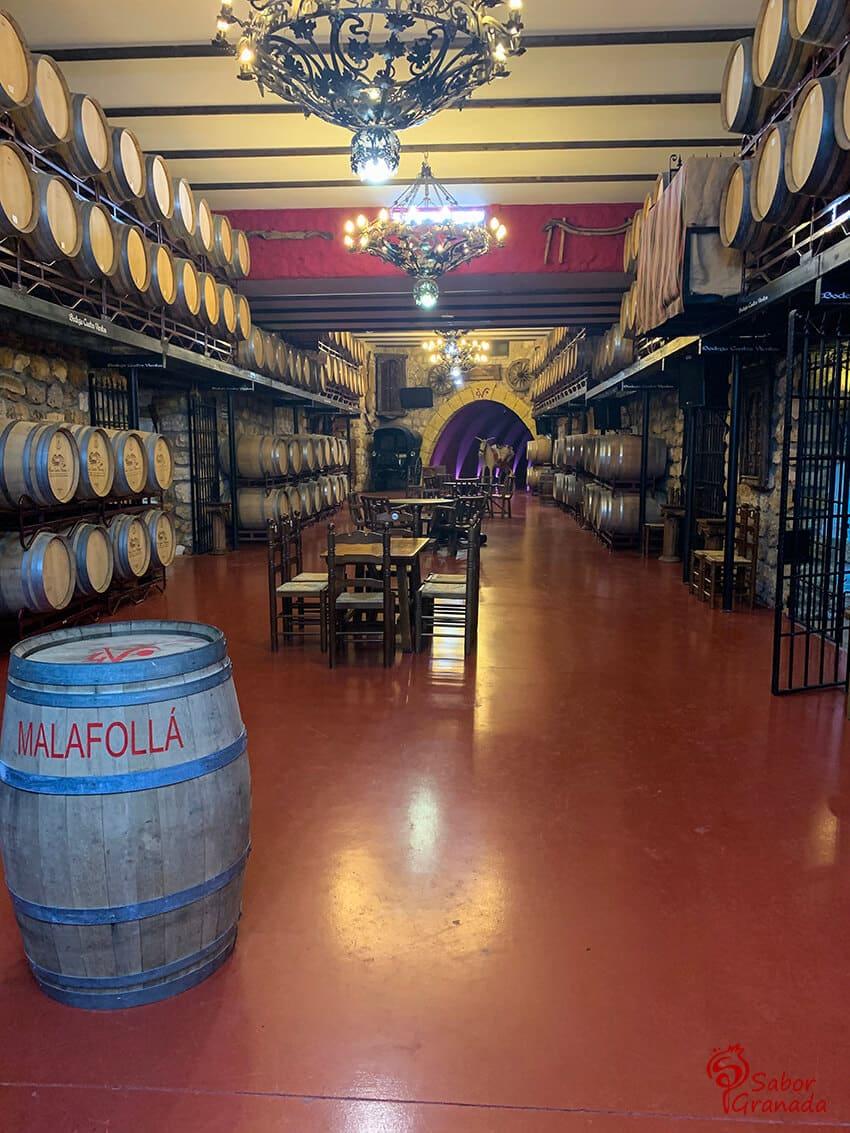 Interior de la Bodega Cuatro Vientos - Sabor Granada